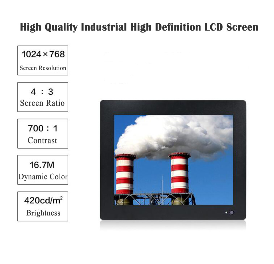 Intel Atom D2550 Touch Screen, 4 Wire Resistive Touch Screen, Industrial Touch Screen PC