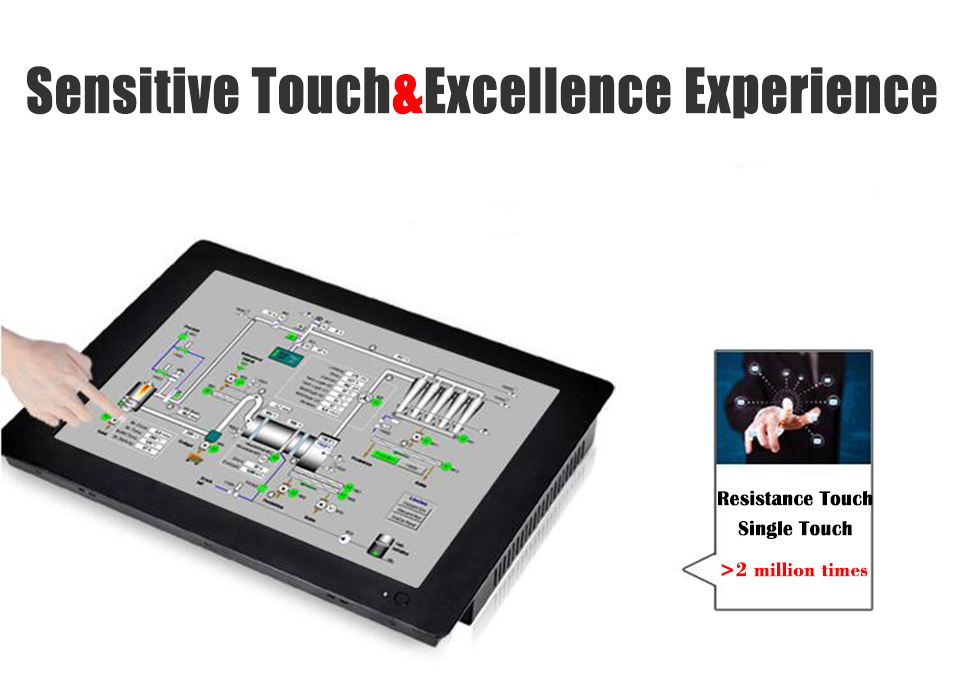 Resistive Touch Screen,4 Wire Industrial Touch Screen PC, Intel Core I7 4510U PC