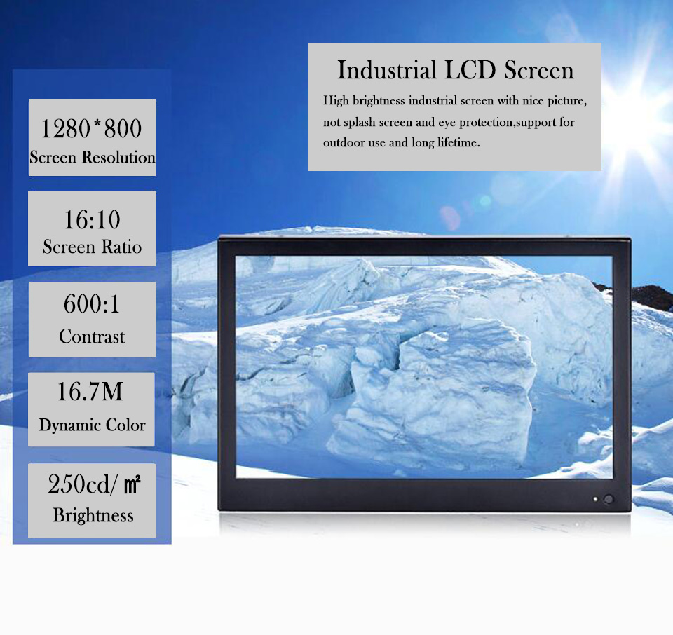 Panel PC,Intel Core I5 3317U,4 Wire Resistive Industrial Touch Screen